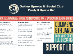 OSSC Launches Takeaway Menu
