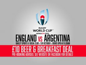 Beer & Breakfast :: Eng vs Arg Rugby World Cup 2019